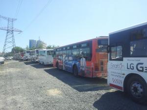 Bir gündə 100 avtobus cərimə meydançasına salındı